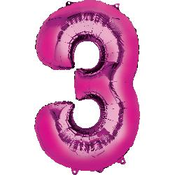 pink-foil-balloon--number-3