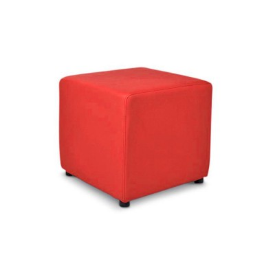 red-cube-ottoman