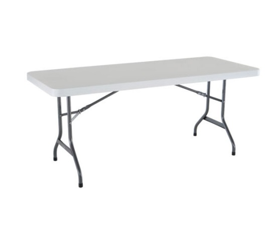 white-plastic-tressle-table