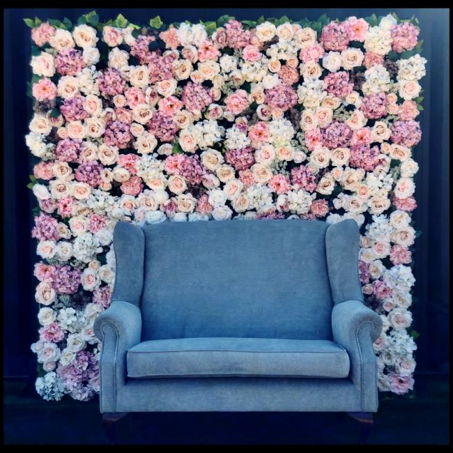silk-flower-wall-with-couch