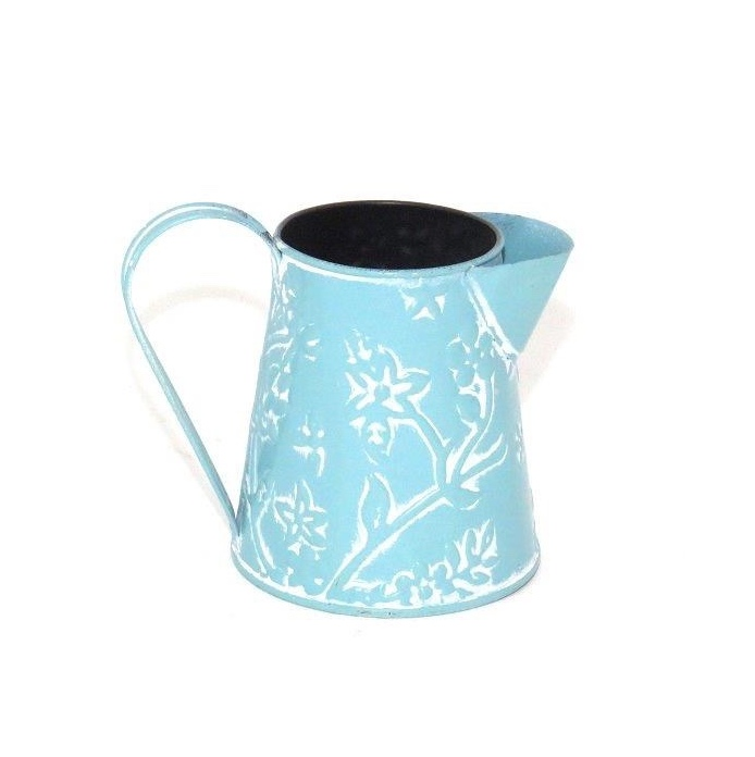 vinage-teal-flower-jug-xs